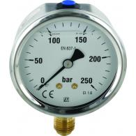 Manometer 63mm / RVS-Messing