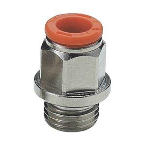 Rechte koppeling - rechte draad (R1) Metal Work Push-in